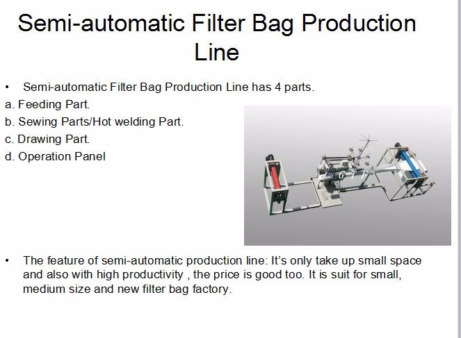 cheaper cost semi-auto stitch/sewing machine for filter bags