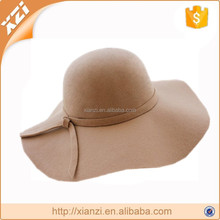 factory custom hat young girl polyester hat french floppy hat