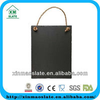 [factory direct] hot sale Hanging Middle Black Slate Menu Board with chalk DP-3220RD2A