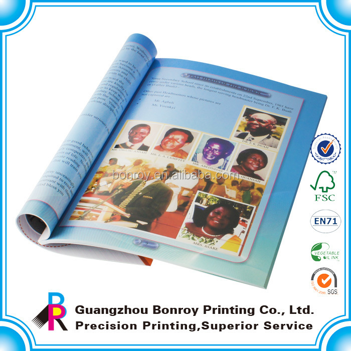 Printing A4 Custom High Quality Popular Hot Sale Fashion Magazine
