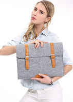 Laptop / Notebook / tablet Pro waterproof felt Sleeve case with leather strap