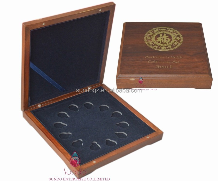 high quality customized wooden medal coin display cases wholesale