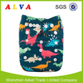 Alvababy Dinosaur Pattern Baby Washable Cloth Diapers Wholesale China