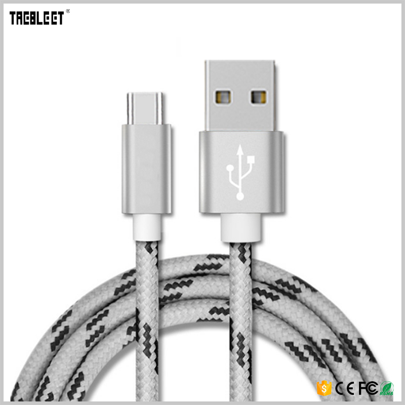 1m / 2m / 3m customized length usb type c cable braided usb cable from China made