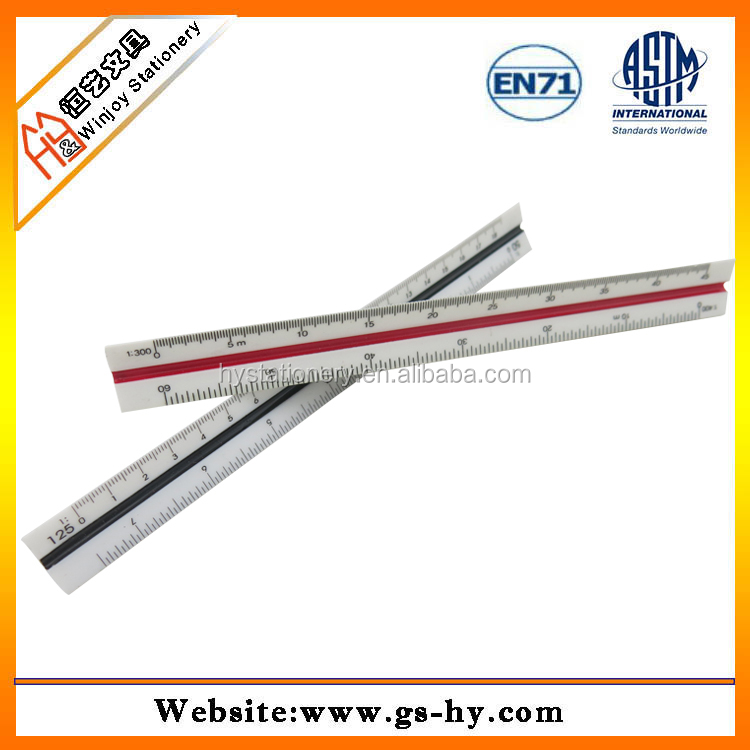 Custom 15cm or 6 inches plastic architect scale ruler for promotional