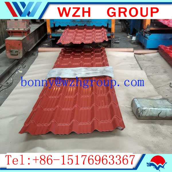 cheap stone coated metal roof tile / color steel sheet from China supplier WZH GROUP