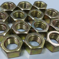 Yellow Zinc Plated DIN934 Nut Hardware