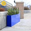 Large Outdoor Metal Curved Glavanized Planter