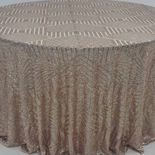 Jenny Bridal Wedding Sequin Tablecloths Wholesale Sequin Fabric