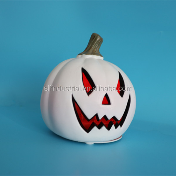 new 2017 idea most wanted items handmade decor white LED plastic Halloween pumpkin for holiday party decoration