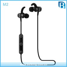 Wholesale M2 Sports Bluetooth headset/Wireless Headset Stereo Waterproof Sweatproof in-ear earbuds Built-in Mic earphone