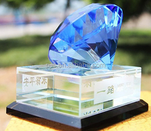 Diamond shape Rock Crystal Awards trophies