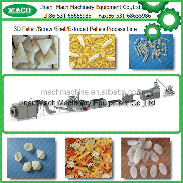 3D snacks pellets/stach based snacks making machine for sale