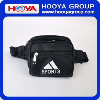 840D polyester black outdoor/travel/sport waist bag