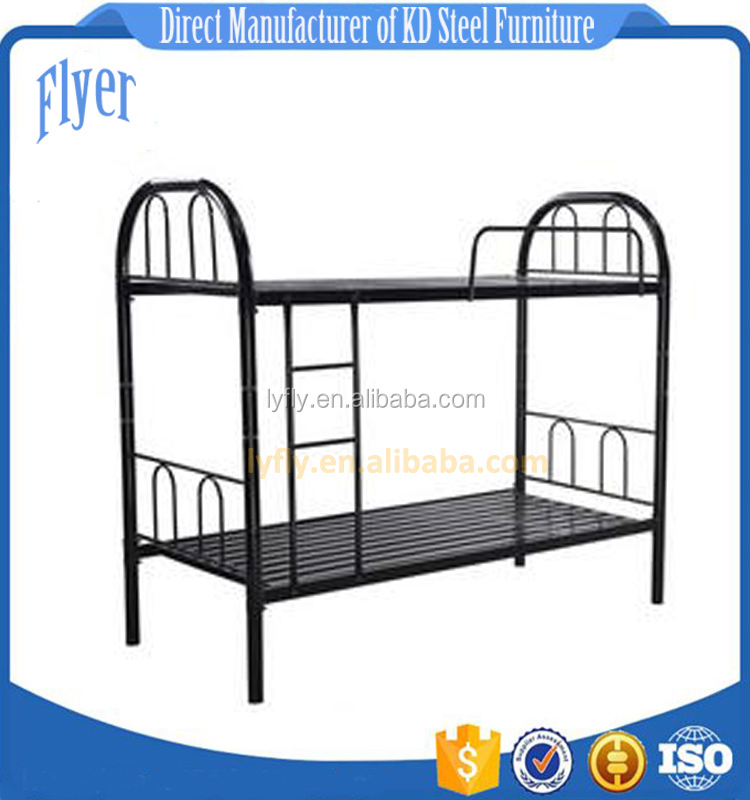 dormitory use metal bed student metal bunk bed steel army bed