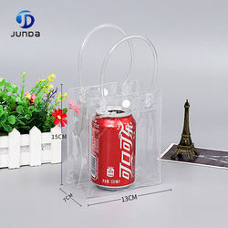 Wholesale cheap waterproof clear pvc plastic shopping bag without zipper