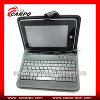 Leather Case Silicone Bluetooth Keyboard for iPad Carrying Cases
