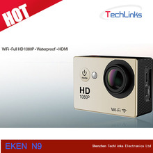 Original Eken N9 Ultra HD 1080P Video 170 degrees Wide Angle WIFI Sports DV Camera 2-inch Screen 30fps action Ca