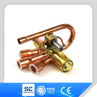 air conditioner and refrigeration parts 4 way copper fitting reversing valve