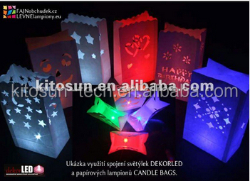 Single Battery Operated Mini LED Light For Crafts/wedding/party