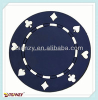 Cheap promotional pvc cup mat, 2014 poker element coaster