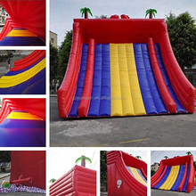 Good price giant outdoor inflatable red slide, inflatable big slide for adult and kids