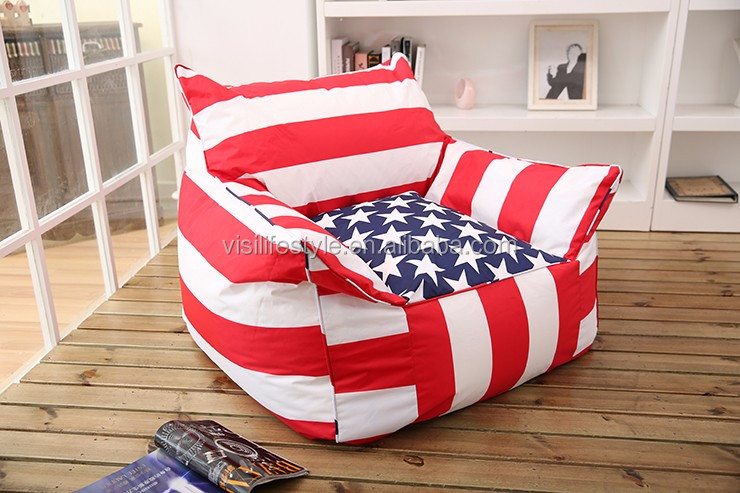 Home Furniture Flag Bean Bag Chair Cover Indoor/outdoor Arm Chair ...