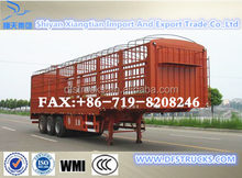 3 axles 40 feet fence semi trailers livestock trailers Semi trailer type and steel material