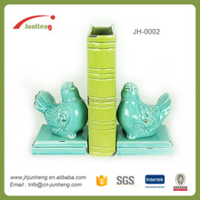 home & garden glaze ceramic bird bookend for book sort