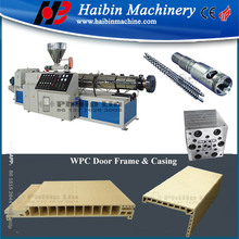 PVC WPC door frame production line/upvc profile extrusion machine
