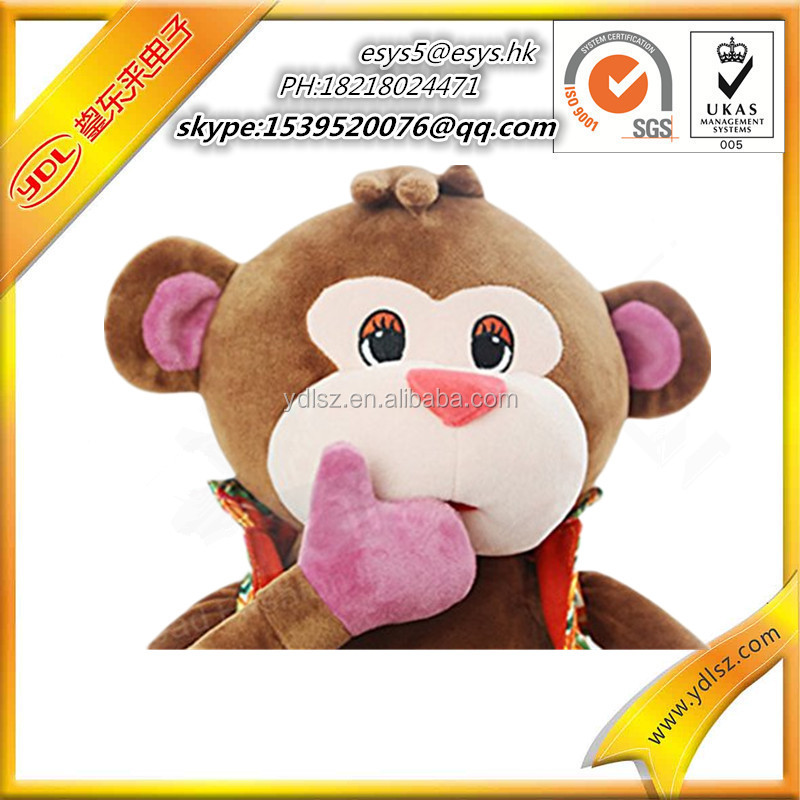 2016 hot selling dancing monkey plush toy for children gift