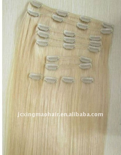 2013 Wholesale Clip in Hair Extension Color 613 Remy Hair