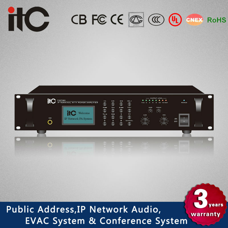 ITC T-6760 Series Most Popular Various Rated Power IP Network Audio Amplifier