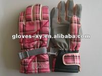 2012 fashion hot sale polyester winter sports Junior's ski gloves