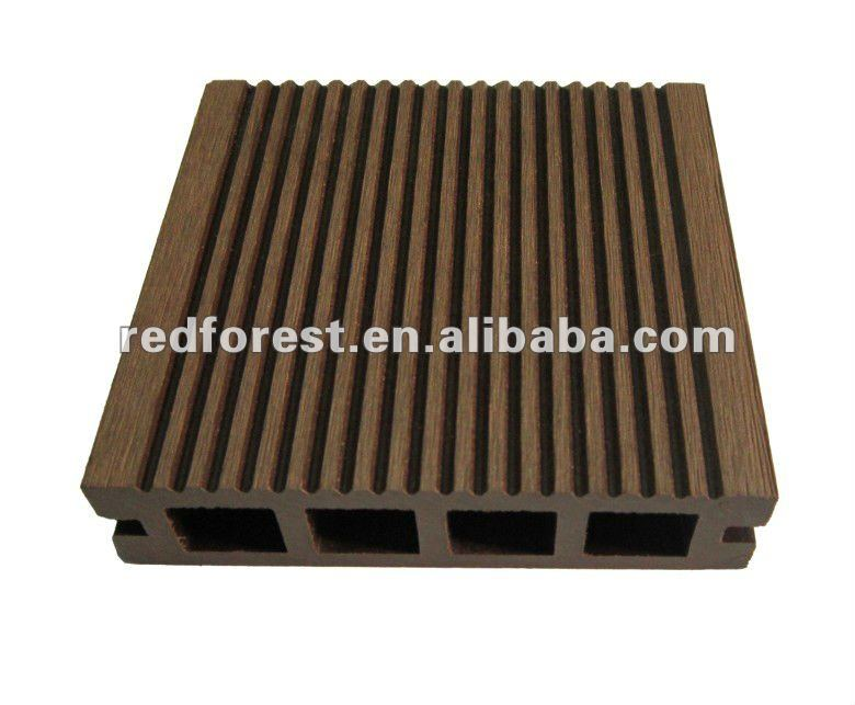 Hollow Wood plastic composite decking_outdoor decking