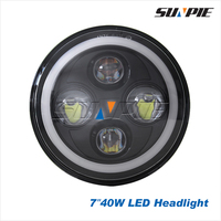 Top Hot Car Auto Spare Parts O sram 7Inch Led Headlight, Angel Eye Motocycle 7Inch Led Headlight