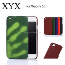 Latest 5g mobile phone thermal induction heat sensitive discoloration back cover color change case for xaiomi 5c