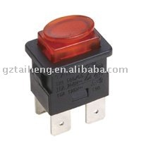 Hot selling 4pins push button switch with red lamp