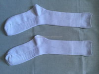 custom men white thick high quality cotton army socks AQD-MS-02