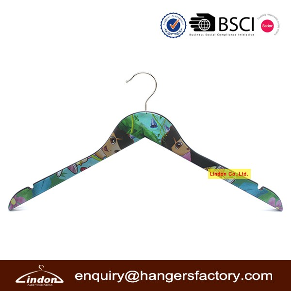 Clothing Display Printing Dora the Explorer Cartoon Hanger