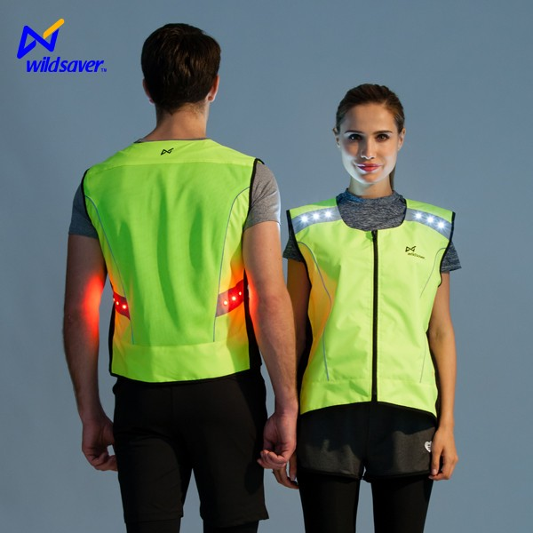 Outdoor traffic safety running motorcycle cycling vest with LED