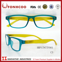 FONHCOO High Quality Ce And Fda Cerficated Super Light Color Reading Glasses With Plastic