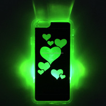 Wholesale 2015 OEM Halloween Decorative Custom Design Mobile Phone Cover Case for iPhone 4 5 6 plus, Halloween flash light case