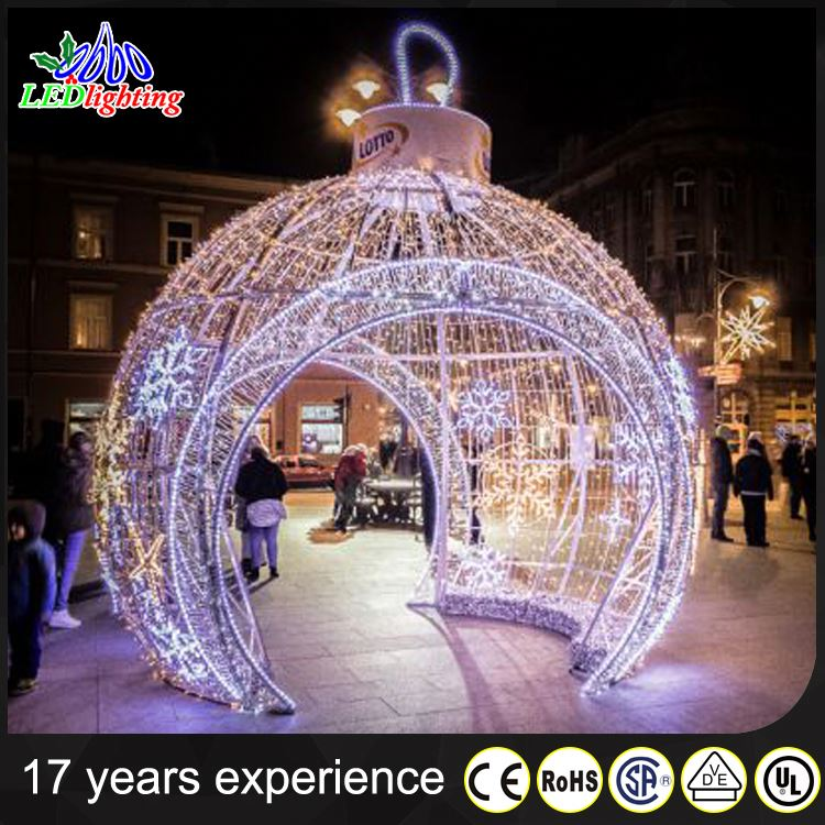 party supplier christmas decorations led lamp garden ball decor lgiht