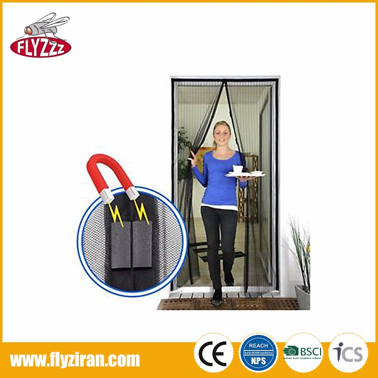 Factory price anti insect mesh polyester DIY magnetic mosquito net door curtain