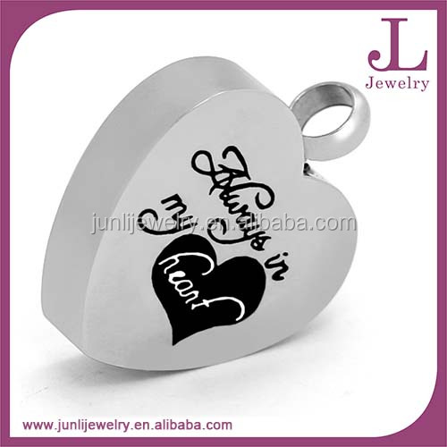 Custom Stainless Steel Cremation Pendant Pet Ash Urn Cremation Jewelry