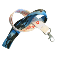 DYE SUBLIMATED LANYARD Our high-quality dye sublimated imprinted lanyards uses 4-colour process that can recreate ANY logo!!