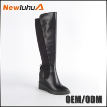 Cheap wholesale custom leather long boots for girls