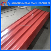 color coated corrugated zinc roofing sheet size