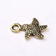 Charm jewelry ancient gold plating simple starfish pendant